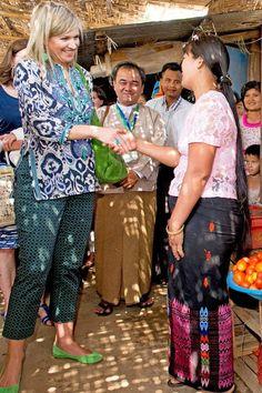 Queen Maxima visits Myanmar Day 2