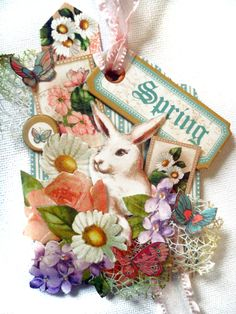 Who's longing for spring? Nichola invokes the beautiful colors of this season with this Sweet Sentiments ATC! #graphic45 #ATC