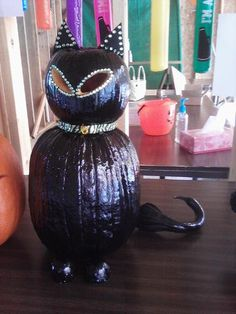 Black Cat Pumpkin from Pam Dile in Edmonton, Kentucky. How cute is this!