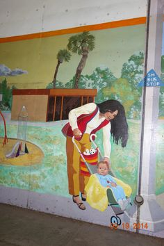 "Santa Monica, California: Mural; on Stewart Street ""Pico Neighborhood"""