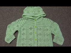 Suéter para niña de 3 a 4 Años Crochet parte 1de 4 - YouTube