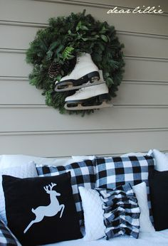 Must dig up my old skates! // Christmas House Tour 2012 by Dear Lillie