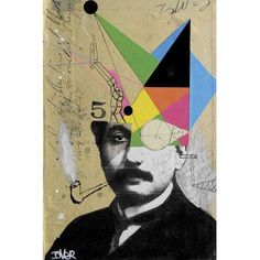 "Varick Gallery Einstein For the Lateral Thinker Graphic Art on Wrapped Canvas Size: 26"" H x 18"" W x 0.75"" D"