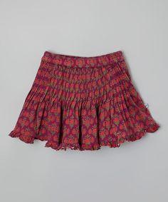 Love this Purple Sunflower Pleated Skirt - Toddler & Girls on #zulily! #zulilyfinds
