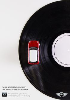 Mini Connected: Vinyl While others play playlists the Mini is its own soundtrack. Advertising School: Miami Ad School   ESPM, São Paulo, Brazil
