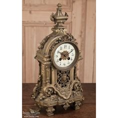 Antiques | Antique Renaissance Bronze Mantel Clock | www.inessa.com