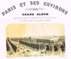 """Chromo from """"Paris et ses Environs"""" - """"FRONTPIECE"""" - Antique Print - 1858"""