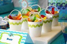 Kara's Party Ideas Rainbow Fish 3rd Birthday Party | Kara's Party Ideas