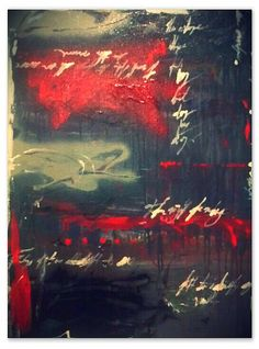 """Abstract painting by Philip Toalston entitled """"Letters From Home #2"""""""