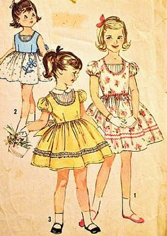 Simplicity 3419 Girls One-Piece Party Dress Vintage Sewing Pattern Size 2 (Breast 21) Vintage Wedding Simplicity,http://www.amazon.com/dp/B00ITXSGLK/ref=cm_sw_r_pi_dp_rJugtb1A3R3P89PW