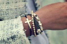 Home and Delicious: style: bunch of bracelets by LA CHINIS