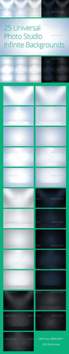 25 Universal Photo Studio Infinite Backgrounds. Only $5 @GraphicRiver