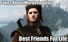 """""""Jokes about murdering you. Best friends for life."""" """"Cicero"""" by Yamoto132 on DeviantArt.com."""
