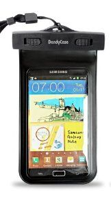 """Amazon.com: DandyCase Black Waterproof Case for Apple iPhone 5, Galaxy S4, HTC One, iPod Touch 5 - Also fits other Large Smartphones up to 5.3"""" Including Galaxy S3, HTC One X/X+, Droid RAZR/MAXX, Nexus 4, EVO 4G LTE, Droid Incredible, LG Optimus G, Nokia Lumia, Droid DNA, Windows Phone 8X - IPX8 Certified to 100 Feet [Retail Packaging by DandyCase]: Cell Phones & Accessories"""