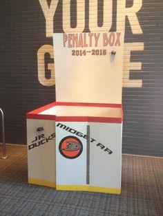 Penalty Box Photo Booth Hockey Birthday Parties, Hockey Party, Sports Party, Grad Parties, Girl Birthday, Birthday Ideas, Hockey Tournaments, Hockey Goalie, Hockey Teams