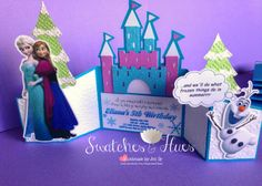 Frozen themed invitation.