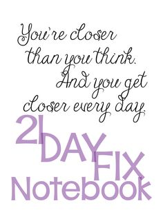 21-Day Fix Binder Cover