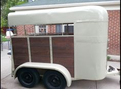 Vintage Classic Two-horse trailer. Rewelded in 2004 and repainted in 2013. I just bought it yesterday for $850. Ready to use for my POA mare this summer! I like anything unique and antique :)