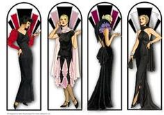 Art Deco Ladies Fashion - Book Marks