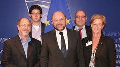 Besuch beim Präsidenten des Europäischen Parlaments Martin Schulz
