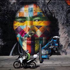 "Mural ""Todos somos um"" - Povo Chukchi -  Wall ""We are all One "" Chukchi People"