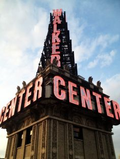 Walker Center sign, Salt Lake City. This towering sign, on top of the Walker Building, can be seen throughout the valley. It gave weather forcast..blue-clear   flashing blue-rain  orange-cloudy  flashing orange-snow