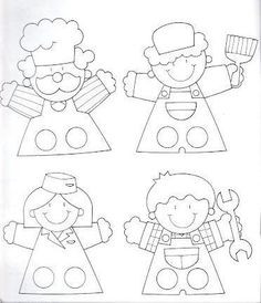 Okul Öncesi Süper Parmak Kukla Kalıpları Felt Puppets, Puppets For Kids, Felt Finger Puppets, Paper Puppets, Puppet Patterns, Felt Patterns, Paper Crafts For Kids, Preschool Crafts, Operation Christmas Child