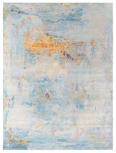 Prize Winning Modern Rugs Gallery: Modern Patinated Look Rug, Harlem, Sky,  When Inquiring About This Design, Please Indicate What Size Interests You.