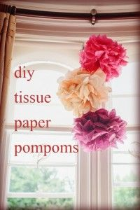 How to make your own tissue pompoms