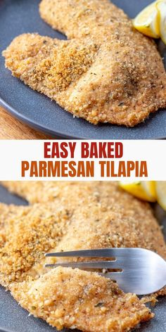 Baked Parmesan Tilapia Are Incredibly Are Quick And Easy To Make With Simple Pantry Ingredients. The Fish Comes Out Golden And Crispy On The Outside And Moist And Flavorful On The Inside Using One Simple Trick Baked Parmesan Tilapia, Baked Tilapia Recipes, Baked Fish, Talapia Recipes Easy, Parmesan Crusted Fish, Oven Baked Tilapia, Chicken Recipes, Fish Dishes, Seafood Dishes