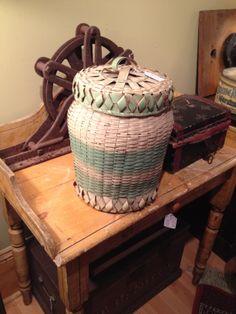Mi'kmaq basketry Aboriginal Art, Basket Weaving, Nativity, Antiques, Ash, Baskets, Gifts, Street, Design