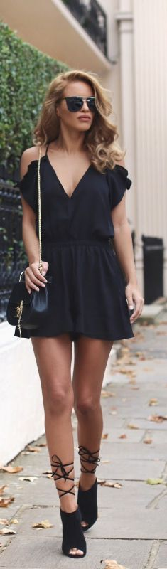 Pleated Playsuit / Fashion By Nada Adelle