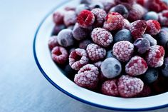 frozen berries make a great tastey and healthy snack