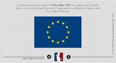 [#ArchivesGouv] Le 08/12/1955 : adoption du drapeau européen composé de 12 étoiles dorées sur fond bleu azur 🇪🇺 #Europa #Europe #EU #EuropeanFlag #drapeaueuropéen #EuropeanUnion #Flag Adoption, Europe, Instagram Posts, Flag Of Europe, Blue, Foster Care Adoption