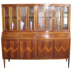 Wonderful Italian Vitrine Cabinet | From a unique collection of antique and modern vitrines at https://www.1stdibs.com/furniture/storage-case-pieces/vitrines/
