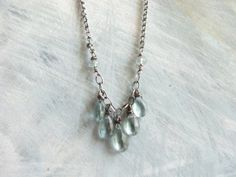 Moss Aquamarine Necklace // Wire Wrapped // by MossyCreekStudio, $48.00
