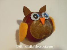 идейки-затейки для мамочек: Наши осенние поделки Acorn Crafts, Owl Crafts, Paper Crafts For Kids, Crafts For Kids To Make, Baby Crafts, Autumn Crafts, Nature Crafts, Buckeye Crafts, Kids Wallpaper