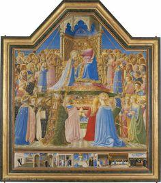 Guidi di Pietro dit Fra Angelico Le Couronnement de la Vierge Vers 1430 - 1432 © 2007 Musée du Louvre / Angèle Dequier