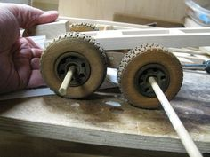 Toy Construction Front and back suspension that works Wooden Toy Wheels, Wooden Truck, Cow Catcher, Mack Dump Truck, Wood Plane, Toy Trucks, Model Building, Wood Toys, Home Projects