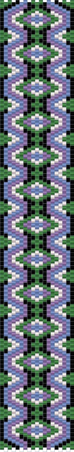 10 schemes mosaic bracelet / 10 free peyote patterns |-beading-Circuits