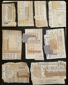 Embroidery On Paper Layering paper scraps to make mini collages. Might stitch on them next. Good way to use up small scraps of cool paper. Fabric Journals, Art Journals, Vintage Journals, Mixed Media Collage, Collage Art, Altered Books, Altered Art, Mix Media, Creation Art