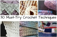 Build your skills with these 30 crochet techniques: Bookmark this list of crochet techniques to work on expanding your skills!