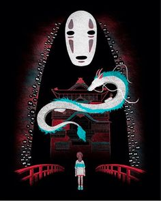 This perfect artwork of the main characters from Spirited Away: | 23 Of The Most Gorgeous Pieces Of Miyazaki Fan Art