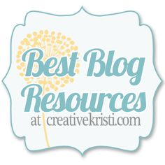 Best Blogging Resources & Tips via ©creativekristi.com Loads of links for resources to improve your blogging!