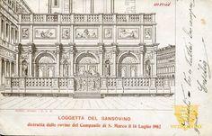 Loggetta del Sansovino viaggiata anno 1906 — Museo virtuale della Cartolina storica veneziana — Venipedia: molto più di un'enciclopedia di Venezia.*silva*