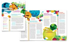Youth Program Newsletter - Word Template & Publisher Template