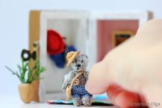 Micro teddy bear in house By Farberova Olga - Bear Pile