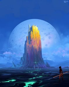 43 Ideas Fantasy Landscape Paintings Sci Fi For 2019 Landscape Concept, Fantasy Landscape, Landscape Art, Landscape Paintings, Landscapes, Arte Sci Fi, Sci Fi Art, Illustration Landscape, Illustration Art
