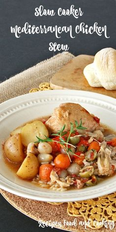 Slow Cooker Mediterranean Chicken Stew from Recipes Food and Cooking