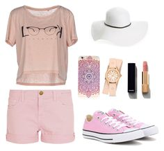 """""""All in Pink"""" by oanaciobanu on Polyvore featuring Current/Elliott, Converse, ONLY, Michele, David & Young and Chanel"""